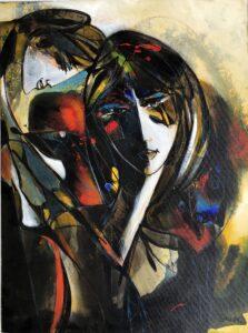 La Secrète (The Secret), 1999, ptg. on canvas